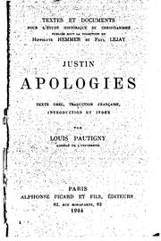 Apologies by Justin Martyr, Saint