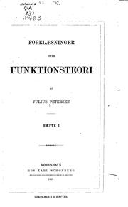 Cover of: Forelæsninger over funktionsteori