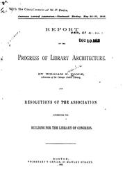 Cover of: Report on the progress of library architecture | Willam Frederick Poole