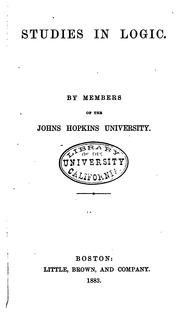 Cover of: Studies in logic