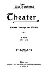 Cover of: Theater