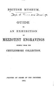 Cover of: Guide to an exhibition of mezzotint engravings, chiefly from the Cheylesmore Collection | British Museum