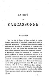 Cover of: La cité de Carcassonne (Aude)