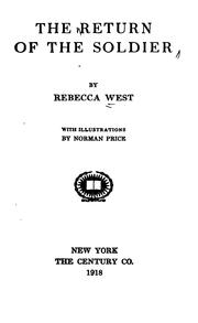 Cover of: The return of the soldier | Rebecca West