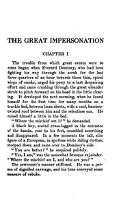Cover of: The Great Impersonation