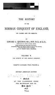 Cover of: The history of the Norman conquest of England