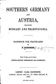 Cover of: Southern Germany and Austria, including Hungary and Transylvania | Karl Baedeker (Firm)