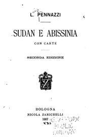 Cover of: Sudan e abissinia