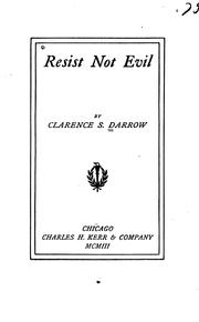 Cover of: Resist not evil