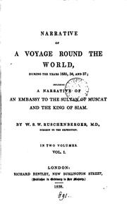 Cover of: Narrative of a voyage round the world during the years 1835, 36, and 37