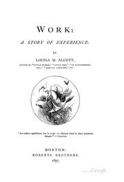 Cover of: Work: a story of experience