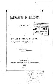 Parnassus in pillory by A. J. H. Duganne