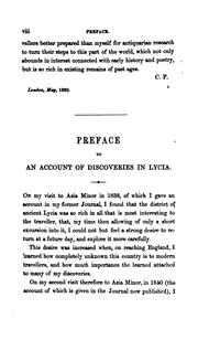 Cover of: Travels and researches in Asia Minor, more particularly in Lycia