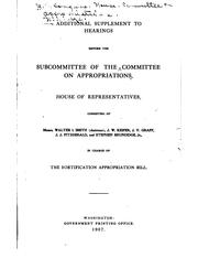 Cover of: Hearings before a subcommittee of the Committee on Appropriations, House of Representatives, Ninety-second Congress, second session