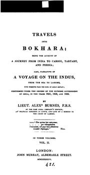 Cover of: Travels into Bokhara. | Alexander Burnes