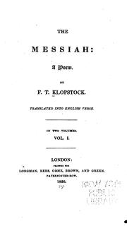 Cover of: Messiah: a poem, in twenty-eight books