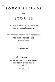 Cover of: Songs, ballads, and stories