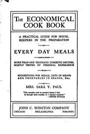 Cover of: The economical cook book | Sara T. Paul