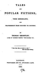 Tales and popular fictions by Keightley, Thomas
