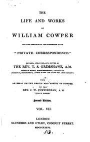 "Cover of: The life and works of William Cowper: ... ""Private correspondence"""