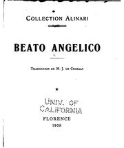 Cover of: Beato Angelico