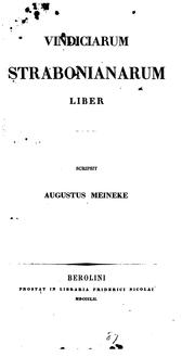 Cover of: Vindiciarum Strabonianarum liber