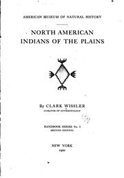 Cover of: North American Indians of the plains