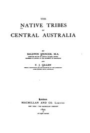 Cover of: The native tribes of Central Australia