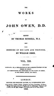 The works of John Owen by Owen, John