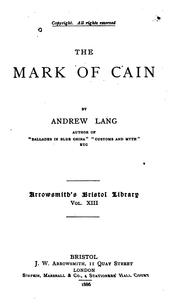Cover of: The Mark Of Cain
