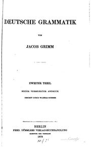 Cover of: Deutsche Grammatik
