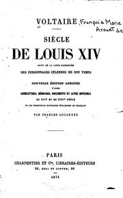 Cover of: Siècle de Louis XIV