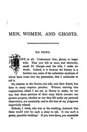 Cover of: Men, women, and ghosts. | Elizabeth Stuart Phelps