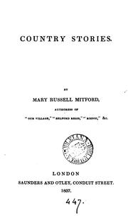 Country stories by Mary Russell Mitford