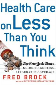 Cover of: Health Care on Less Than You Think