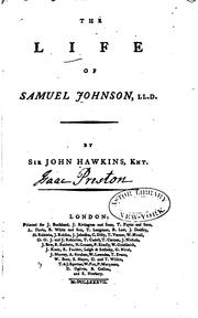 Cover of: The life of Samuel Johnson, LL.D