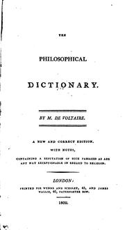 Cover of: Dictionnaire philosophique