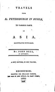 Cover of: Travels from St. Petersburgh in Russia, to various parts of Asia