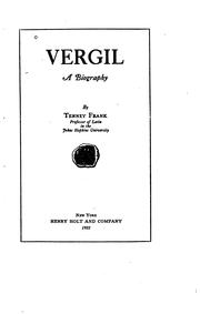 Cover of: Vergil A Biography