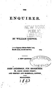 Cover of: The enquirer | William Godwin