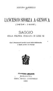 Cover of: Francesco Sforza a Genova (1458-1466)
