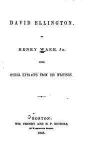 Cover of: David Ellington. | Ware, Henry