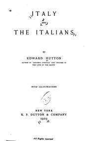 Cover of: Italy and Italians