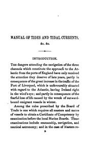 Cover of: Manual of tides and tidal currents