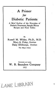 Cover of: A primer for diabetic patients