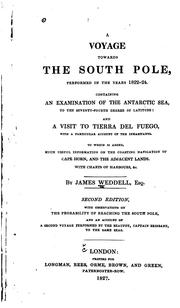 Cover of: A voyage towards the South Pole, performed in the years 1822-1824