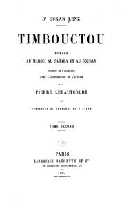 Cover of: Timbouctou, voyage au Maroc