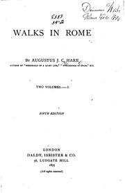 Cover of: Walks in Rome. | Augustus J. C. Hare