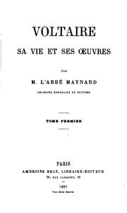 Cover of: Voltaire, sa vie et ses oeuvres