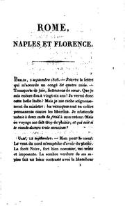 Cover of: Rome, Naples et Florence